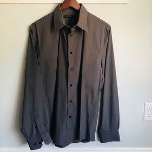 Men's gray Express dress shirt